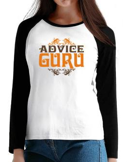 Advice Guru T-Shirt - Raglan Long Sleeve-Womens