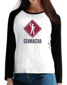 Genmaicha T-Shirt - Raglan Long Sleeve-Womens