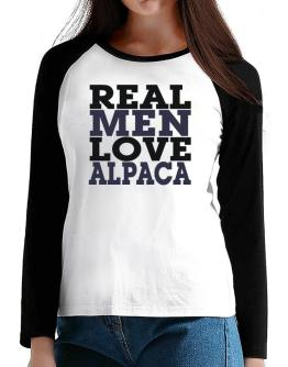 Real Men Love Alpaca T-Shirt - Raglan Long Sleeve-Womens