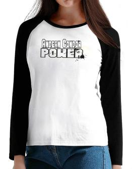 Andean Condor Power T-Shirt - Raglan Long Sleeve-Womens
