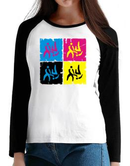 Aikido - Pop Art T-Shirt - Raglan Long Sleeve-Womens