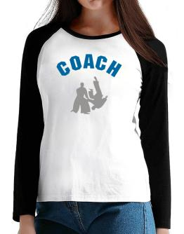 Aikido Coach T-Shirt - Raglan Long Sleeve-Womens
