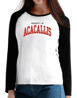 Property Of Acacallis T-Shirt - Raglan Long Sleeve-Womens