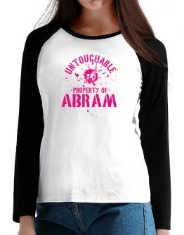 Untouchable : Property Of Abram T-Shirt - Raglan Long Sleeve-Womens