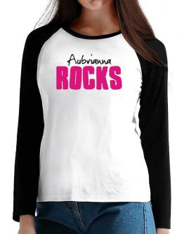 Aubrianna Rocks T-Shirt - Raglan Long Sleeve-Womens