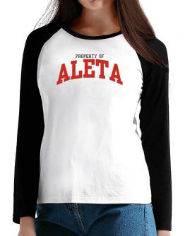 Property Of Aleta T-Shirt - Raglan Long Sleeve-Womens
