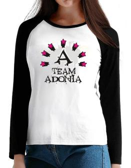 Team Adonia - Initial T-Shirt - Raglan Long Sleeve-Womens