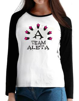 Team Aleta - Initial T-Shirt - Raglan Long Sleeve-Womens