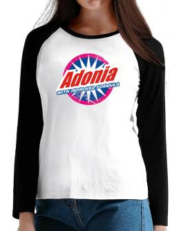Adonia - With Improved Formula T-Shirt - Raglan Long Sleeve-Womens