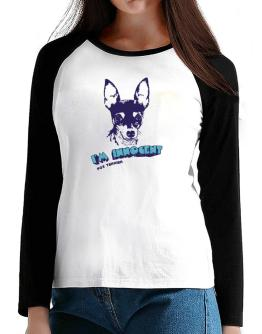 I'M INNOCENT Fox Terrier T-Shirt - Raglan Long Sleeve-Womens