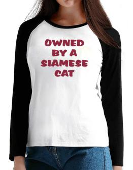 Owned By S Siamese T-Shirt - Raglan Long Sleeve-Womens