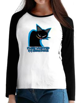 Pussy Whipped By My American Shorthair T-Shirt - Raglan Long Sleeve-Womens