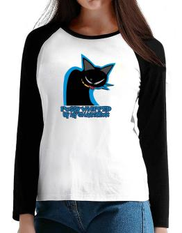 Pussy Whipped By My Chartreux T-Shirt - Raglan Long Sleeve-Womens