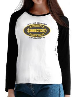 Original Connecticut Since T-Shirt - Raglan Long Sleeve-Womens