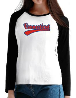 Retro Connecticut T-Shirt - Raglan Long Sleeve-Womens