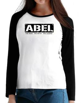 Abel : The Man - The Myth - The Legend T-Shirt - Raglan Long Sleeve-Womens