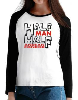 Half Man , Half Andean Condor T-Shirt - Raglan Long Sleeve-Womens
