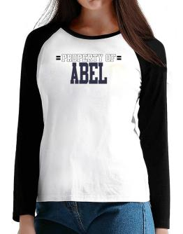 """ Property of Abel "" T-Shirt - Raglan Long Sleeve-Womens"