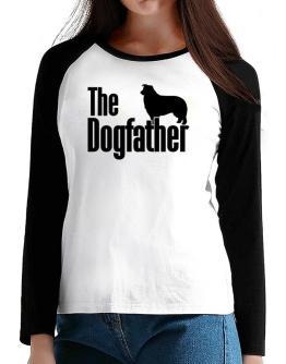 The dogfather Border Collie T-Shirt - Raglan Long Sleeve-Womens