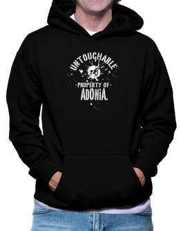 Untouchable Property Of Adonia - Skull Hoodie