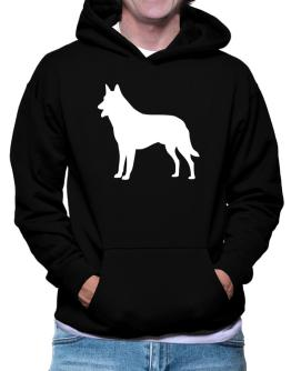 Belgian Malinois Silhouette Embroidery Hoodie