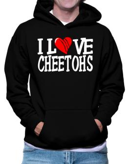 I Love Cheetohs - Scratched Heart Hoodie