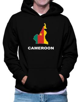 Cameroon - Country Map Color Hoodie