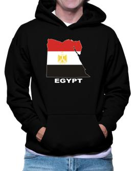 Egypt - Country Map Color Hoodie
