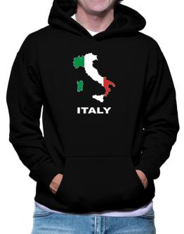 Italy - Country Map Color Hoodie