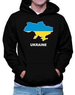 Ukraine - Country Map Color Hoodie