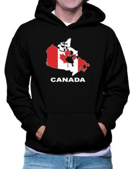 Canada - Country Map Color Hoodie