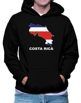 Costa Rica - Country Map Color Hoodie