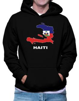 Haiti - Country Map Color Hoodie