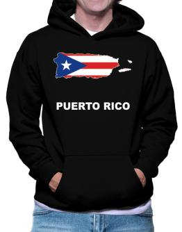Puerto Rico - Country Map Color Hoodie