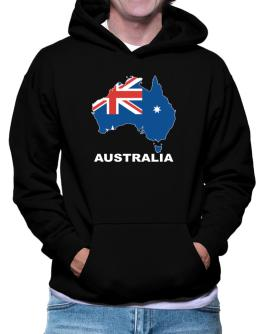 Australia - Country Map Color Hoodie