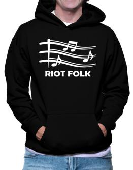 Riot Folk - Musical Notes Hoodie