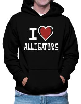 I Love Alligators Hoodie