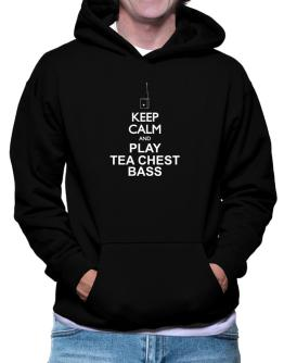 Keep calm and play Tea Chest Bass - silhouette Hoodie
