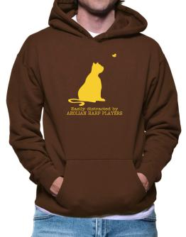 Easily Distracted By Aeolian Harp Players Hoodie
