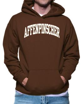 Affenpinscher Athletic Applique / Embroidery Hoodie