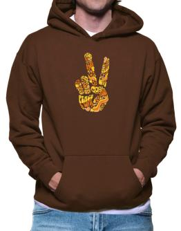 Peace Sign - Hand Collage Hoodie