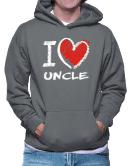 I love Auncle chalk style Hoodie
