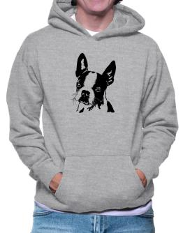 Boston Terrier Face Special Graphic Hoodie