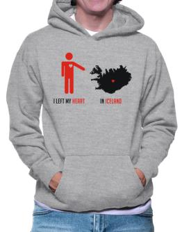 I Left My Heart In Iceland - Map Hoodie