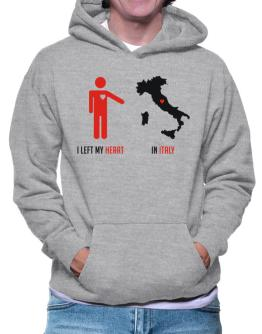 I Left My Heart In Italy - Map Hoodie