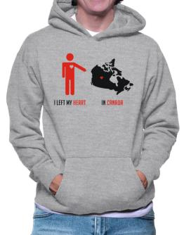 I Left My Heart In Canada - Map Hoodie