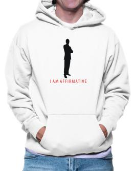 I Am Affirmative - Male Hoodie