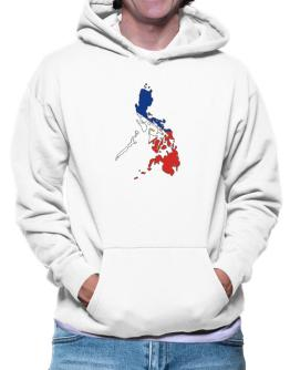 Philippines - Country Map Color Simple Hoodie