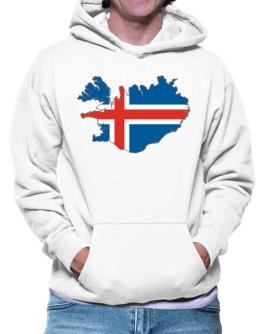 Iceland - Country Map Color Simple Hoodie