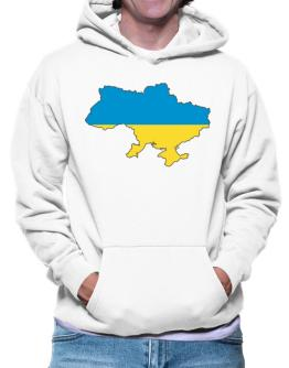Ukraine - Country Map Color Simple Hoodie